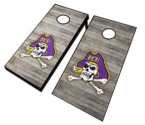 "NCAA East Carolina Pirates Distressed Cornhole Set with Bags, 24"" x 48"", Purple"
