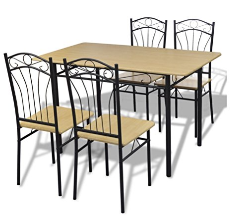 Dining Kitchen Table and Chair Set of 5 Pieces Modern Home Furniture
