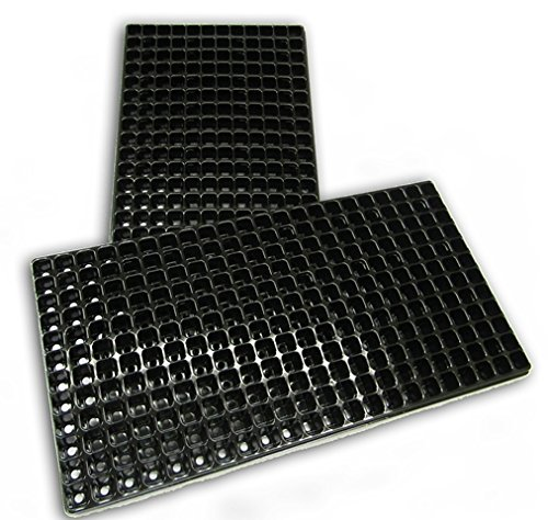 Black Plug Plant Seed Trays 264 Cells 12 x 22 with Drainage Holes 540mm x 277mm (5 Trays) Breeders Seeds