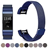 Hotodeal Band Compatible Fitbit Charge 2 Bands, Bracelet Milanese Loop Stainless Steel Metal