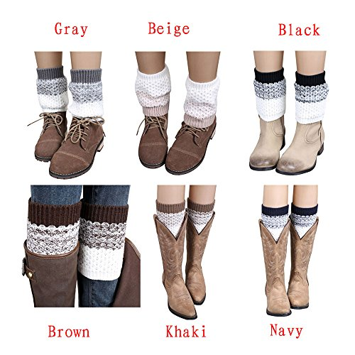 Clearance-Coromose-Jacquard-Knitted-Cuffs-Toppers-Liner-Boot-Leg-Warmers-Socks