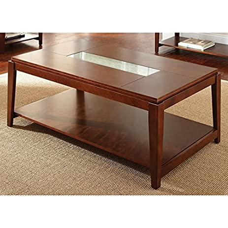 Amazoncom Greyson Living Juliana Inset Cracked Glass Coffee Table