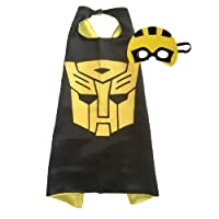 Traindrops Bumble Bee Transformers Dress Up Costume Cape and Mask Set