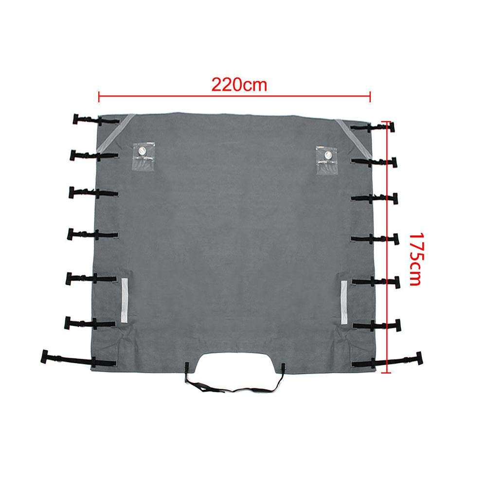 86.61 x 68.90 inch xiangpian183 Caravan Towing Cover Caravan Front Protection Covers with 2 LED Lights Fit for Motorhome /& Trailer Covers