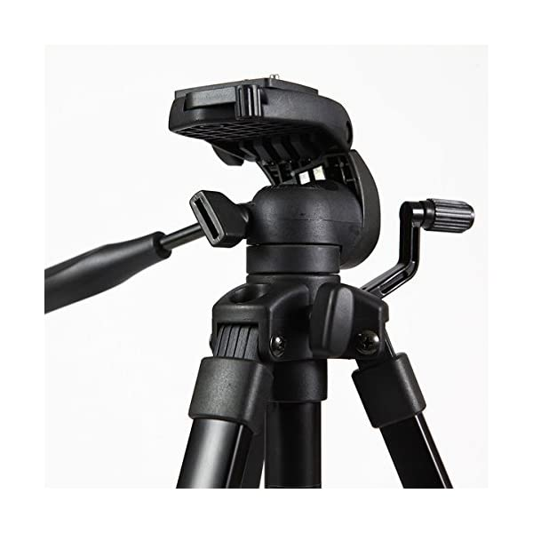 RetinaPix Fotopro DIGI-9300 5ft Universal Lightweight 3 Way Pan Head Tripod Stand with Mobile Holder Mount & Carry Bag for All Smart Phones, GoPro, DSLR Cameras Payload 4Kg