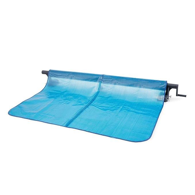 Intex 28051 - Enrollador de Cobertor solar para piscinas cuadradas o rectangulares: Amazon.es: Jardín