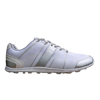 8bc4dc15c9063 Amazon.com: True Linkswear Elements Hybrid Shoes (White/Grey, 12 ...