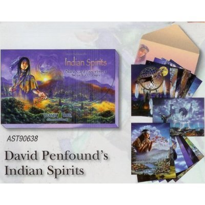 (Indian Spirits by David Penfound [AST90638] Blank Native American Card Assortment by Leanin' Tree - 20 cards with full-color interiors and 22 designed envelopes)