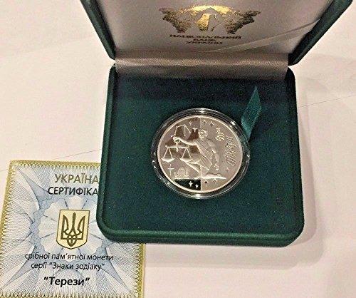 2008 UA 2008 Ukraine 5 Hryvnias Silver Proof Coin Signs o coin Good 0014171
