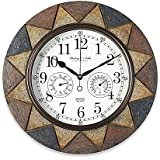 Amazon Com Universal 11381 Indoor Outdoor Clock 13 1 2