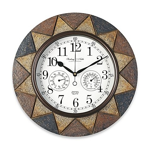 Slate Indoor/Outdoor Wall Clock by slate