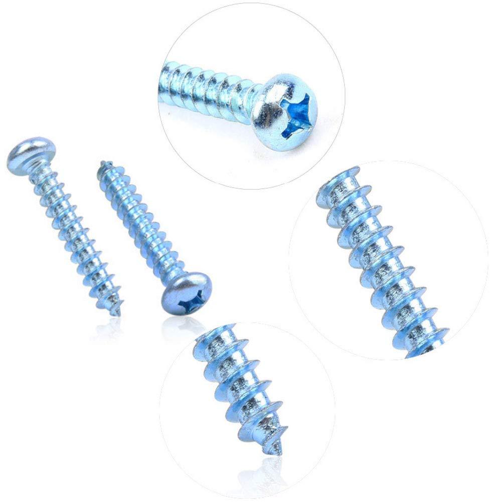 Sujetadores De Herramientas De Hardware Azul Zinc M/ás Duro Tornillos De Autoperforaci/ón Pernos M4 M5 M6 Gtagain Cruz Cabeza De La Cacerola Tornillos Autorroscantes