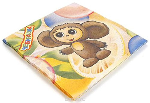Cheburashkaナプキンセット25 x 25 cm (パックof 12 ) B078THJ4BW