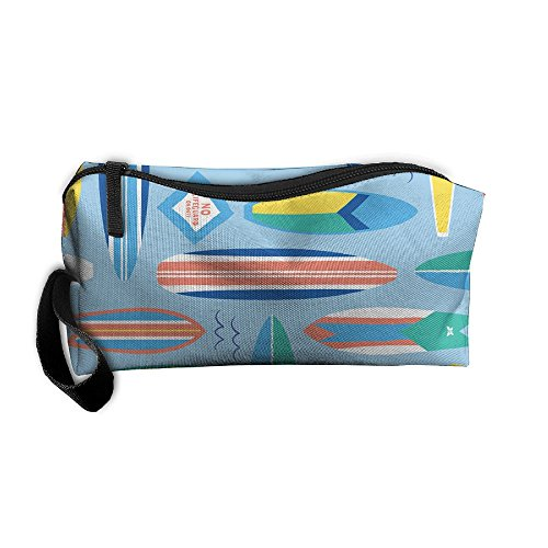 Roomy Cosmetic Bags With Zipper For Travel Surf Board Blog Portable Ladies Hand Bag -