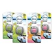 Febreze Car Air Freshener, 2 Gain Original and 2 Gain Island Fresh scents (4 Count.06 fl oz)