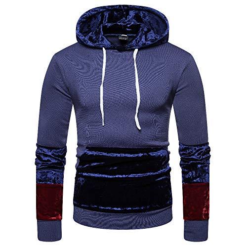ie Mens Duseedik Pullover Long Sleeve Hooded Sweatshirt Tops Blouse ()