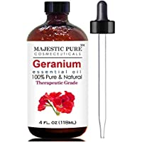 Majestic Pure Geranium Essential Oil, Therapeutic Grade, 4 Fl. Oz