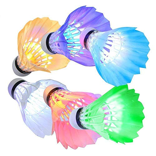 KEVENZ Goose Feather Badminton Shuttlecocks with Great Stability and Durability, High Speed Badminton Birdies Balls(10-Pack) (Led Badminton)