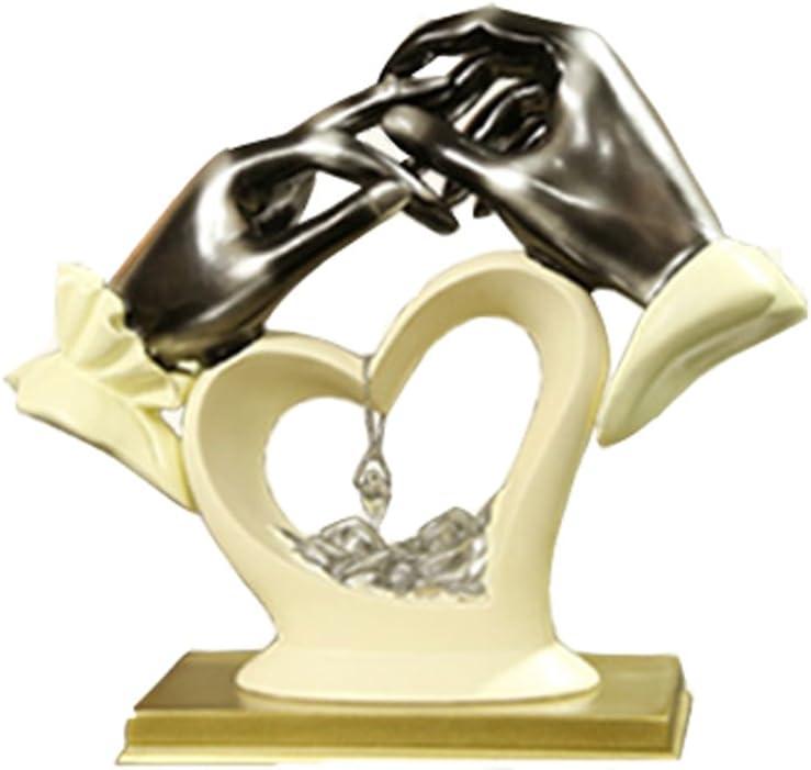 Regalo de boda Adornos de resina creativa escultura ornamento de compromiso recuerdos sala de estar dormitorio artesanía decoración