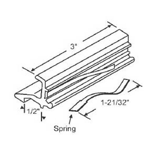 STB Sliding Window Latch and Pull, Extruded Aluminum, with Spring, Mill, 3''