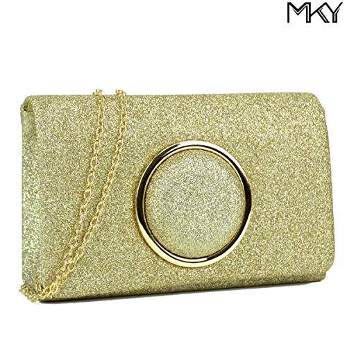 Party Women Evening Handbag Glitter Bag Shiny Gold Clutch Sequin Purse AfaW0naqU