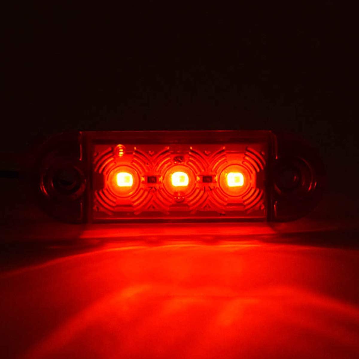 30x Feux de position lat/éraux LED avant arri/ère Feux Indicateur universel 12//24 V avec ampoules blanc//orange//rouge pour camion remorque van caravane camion voiture bus