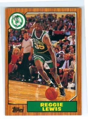 Reggie Lewis basketball card (Boston Celtics) 1993 Topps Archives #94