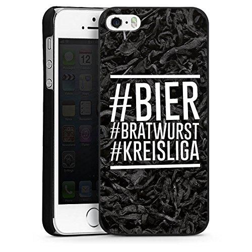 Apple iPhone SE Hülle Schutz Hard Case Cover Bier Bratwurst Kreisliga Fußball