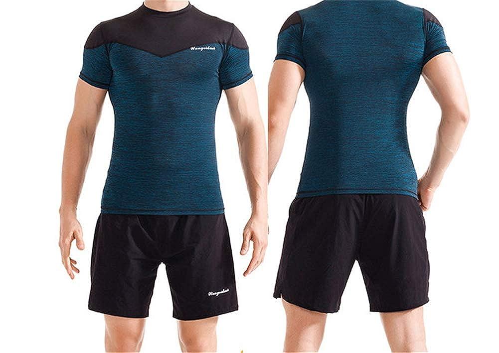 Mens Fitness Set Quick-Drying Swimming Set Walking Running Exercise Set