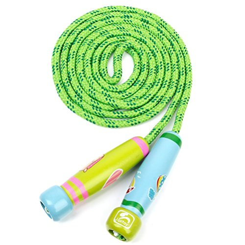 TOYMYTOY Children Adjustable Jumping Skipping Rope with Wooden Handle