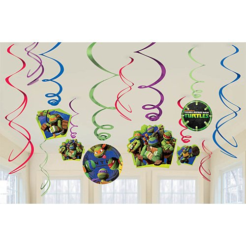 American Greetings Teenage Mutant Ninja Turtles Hanging Swirl Decorations 12Count