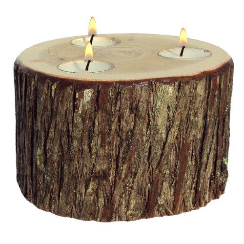 dle (Rustic Cedar Log Holder)
