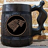 House Stark Mug, Winter is Coming, Jon Snow, Game of Thrones Gift, GoT, Game of Thrones Inspired Gift, Beer Tankard, GoT Stein