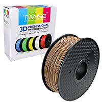 TIANSE Wood 3D Printer Filament 1.75mm 1KG Spool Filament for 3D Printing, Dimensional Accuracy +/- 0.03 mm from TIANSE