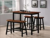 4 Piece Kitchen Table Sets Crown Mark Tyler 4-Piece Counter Height Table Set