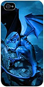 Midnight Dragon- Case for the Apple Iphone 5-5s Universal- Hard White Plastic BY RANDLE FRICK by heywan