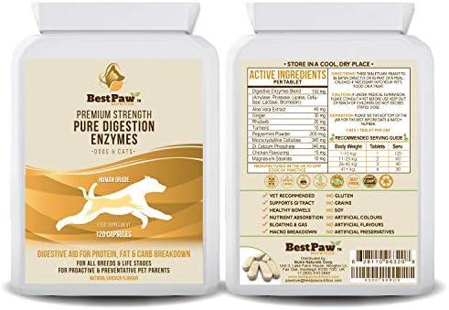 Best Paw Nutrition - Probióticos para Perros Enzimas Digestivas - Suplemento Probiótico para Estómagos Sensibles De Perros