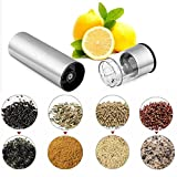 Electric Pepper Grinder-LED Light Battery Operated stainless steel electric pepper mill spice salt pepper grinder with adjustable fineness, making spice dispensing faster and easier