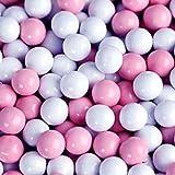 Light Pink & White Sixlets Mini Milk Chocolate Balls 1LB Bag