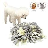 """ALWOA Dog Snuffle Mat Slow Feeding Dog Play Mat Dog Nosework Training Blanket 17""""X17"""""""