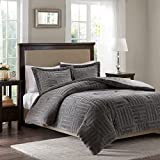 Arctic Fur Down Alternative Comforter Mini Set Grey King/Cal King