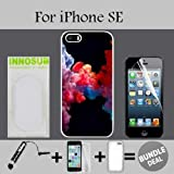 3in1 vape - Colorful Vape Smoke Custom iPhone SE Cases-White-Plastic,Bundle 3in1 Comes with Screen Protector/Universal Stylus Pen by innosub