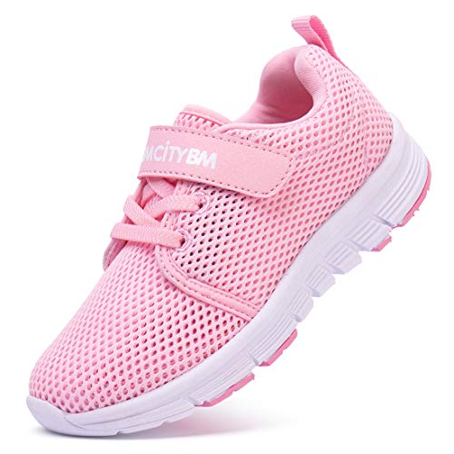 BMCiTYBM Boys Girls Sneakers Toddler Kids Tennis Athletic Running Shoes Pink Size 10 M