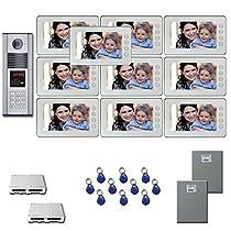 Multi Tenant Video Intercom Ten 7 video monitor door camera kit