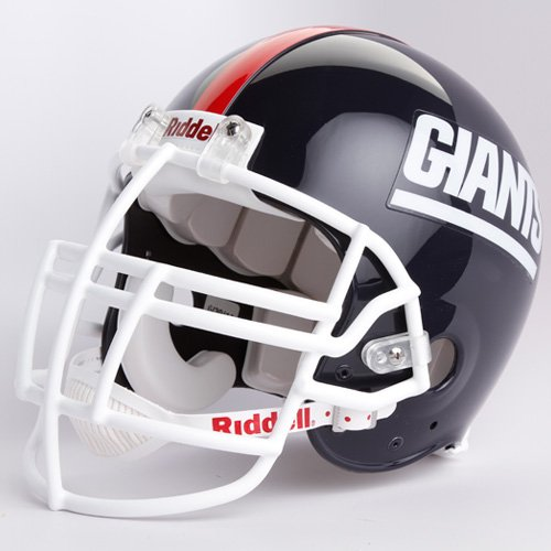 Riddell New York Giants 1981-1999 Authentic Throwback Helmet- Lawrence Taylor Face Mask - New York Giants Black One Size