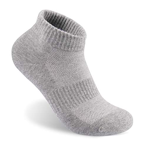 Men's Athletic Ankle Socks Sports Low Cut Socks Pure Color Cotton Socks Grey(Pack of 5) Size:7-11