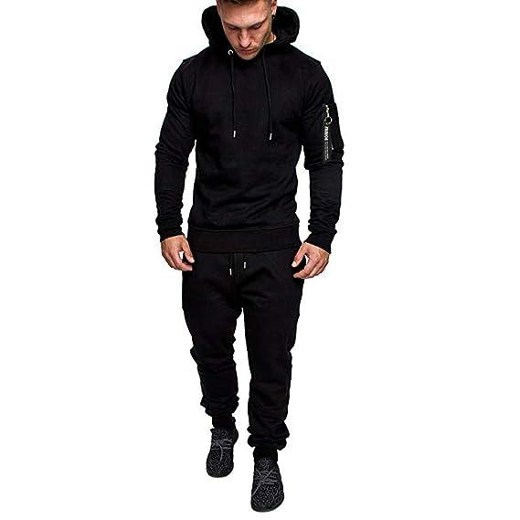 Men Tracksuit Set//Autumn Zipper Print Sweatshirt Pants Sets Sport Suit Tracksuit