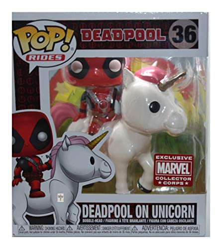 Funko Pop! Marvel Collectores Crops - Deadpool On Unicorn - Pop! Rides #36