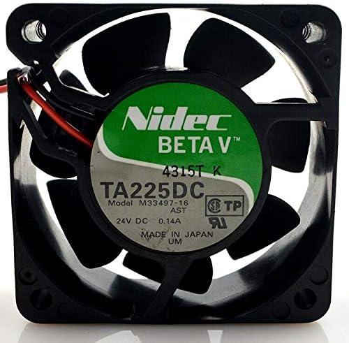 Original FOR NIDEC TA225 DC m 33497 16 24V 0.14A 60 60 25 6CM cooling fan