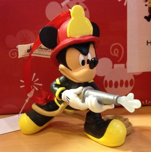 Disney Fireman Mickey Mouse Figurine Ornament (Fireman Mickey Mouse)